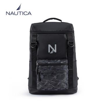 美国诺帝卡(NAUTICA)双肩包?#20449;?#22763;潮18.5英寸电脑包大容量笔记本包休闲时尚出差旅行书包商务背包10400305Y 黑