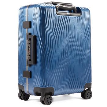 美国诺帝卡(NAUTICA)行李箱男女时尚潮20英寸万向轮旅行箱登机箱商务出差旅行箱包拉杆箱 10101110 蓝
