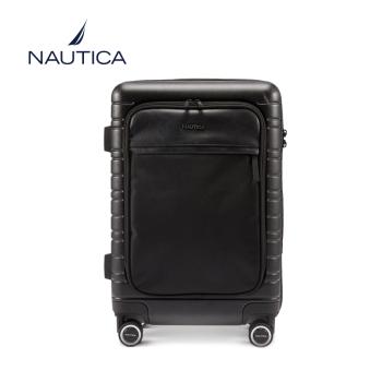美国诺帝卡(NAUTICA)行李箱男女时尚潮24英寸万向轮旅行箱登机箱商务出差旅行箱包拉杆箱 10101120 黑