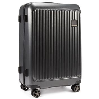 美国诺帝卡(NAUTICA)行李箱男女时尚潮24英寸万向轮旅行箱登机箱商务出差旅行箱包拉杆箱 10101131 黑