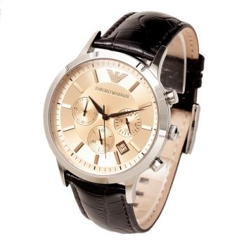 阿玛尼(Emporio Armani)手表 男士欧美时尚商务三眼多功能石英皮带男表 AR2433正品