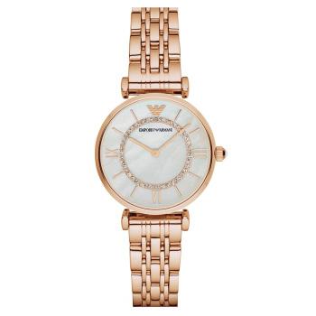 阿玛尼(Emporio Armani)满天星手表 钢质表带女士经典时尚休闲石英腕表 AR1909