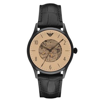 阿玛尼(Emporio Armani)手表男士手表 全自动机械镂空时尚商务男表机械表 机械钢带男表 AR1923