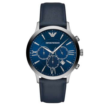 阿玛尼(Emporio Armani) 男士手表 皮表休闲时尚商务防水 男士石英腕表 AR11226