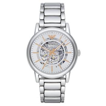 阿玛尼(Emporio Armani)手表男士手表 全自动机械镂空时尚商务男表机械表 机械钢带男表 AR1980