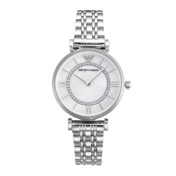 阿玛尼(Emporio Armani)满天星手表 钢质表带女士经典时尚休闲石英腕表 AR1908