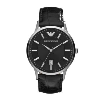 阿玛尼(Emporio Armani) 手表 时尚休闲皮带石英时尚腕表男士腕表 AR2411