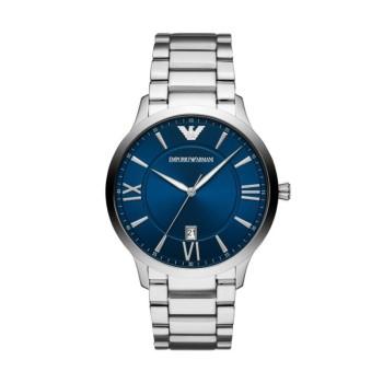 阿玛尼(Emporio Armani)男士手表 正品钢质表带休闲时尚商务防水 男士石英腕表 AR11227