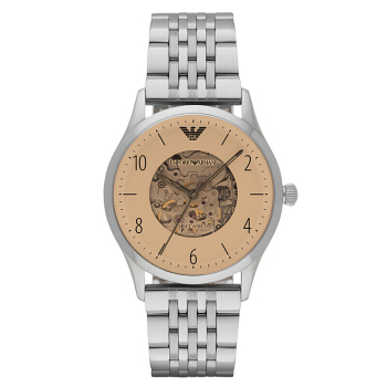 阿玛尼(Emporio Armani)手表男士手表 全自动机械镂空时尚商务男表机械表  AR1922