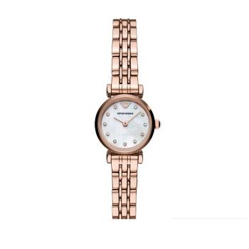 阿玛尼(Emporio Armani) 手表 满天星小表盘钢带女士玫瑰金时尚休闲石英腕表 AR11203