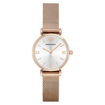 阿玛尼(Emporio Armani) 时尚腕表防水石英表女士手表(AR1956 钢带)