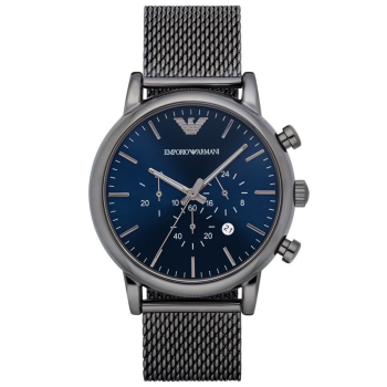 阿玛尼(Emporio Armani) 手表 时尚日历计时男表休闲皮带男士手表腕表男 AR1979