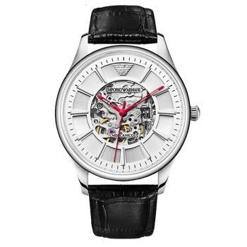 阿玛尼(Emporio Armani)全自动机械镂空时尚商务机械男表男士手表AR2072