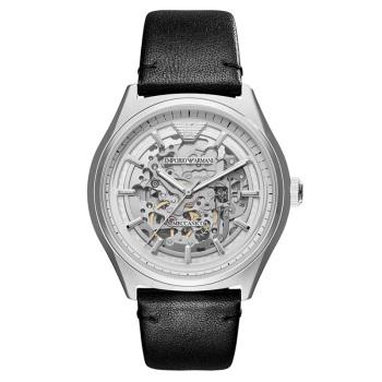 阿玛尼(EmporioArmani)手表皮质表带经典休闲机械男士时尚腕表AR60003
