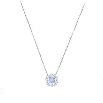 施華洛世奇 優雅浪漫氣質藍色鎖骨項鏈5279425