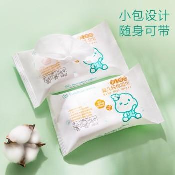 全棉時代袋裝嬰幼兒口手清潔純棉濕巾25片/袋4袋*4提