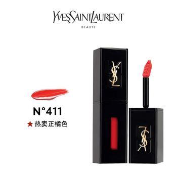 YSL圣罗兰黑管唇釉5.5ml (411 416 425 国内专柜 中文标签)