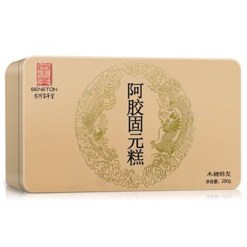本月新品/第3件0元】東阿百年堂阿膠固元糕280g 木糖醇型