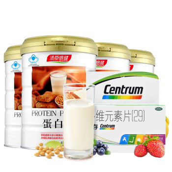 套餐】汤臣倍健蛋白粉450g*4罐+善存多维元素片(29)100片*1盒