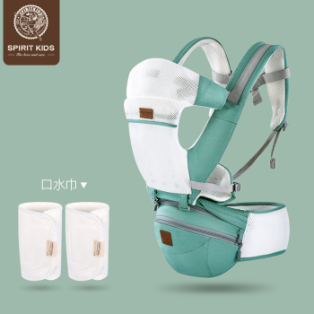 spiritkids多功能背带式腰凳宝宝前抱式四季透气坐凳婴儿抱带