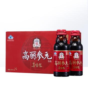 买2送玫瑰花茶】正官庄高丽参元饮品100ml*10瓶 韩国进口 提升免疫