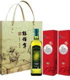 糧佰年祝福油你禮盒B(1瓶750ml特級初榨橄欖油2塊1kg稻花香米磚