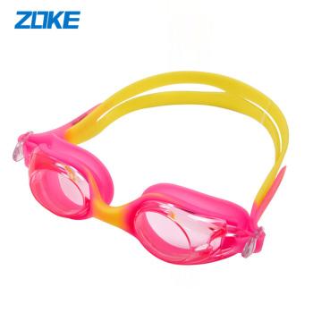洲克ZOKE大框儿童泳镜 防水防雾男女童游泳眼镜 舒适平光泳镜