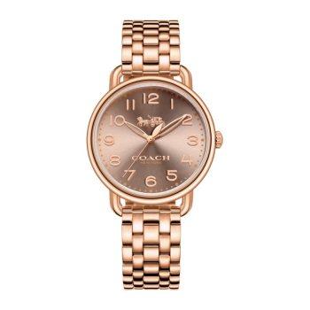 蔻驰COACH DELANCEY SLIM蒂兰希系列手表 石英机芯/不锈钢表壳/14502435玫瑰金色