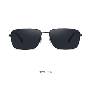 海伦凯勒新款商务方框男士太阳镜偏光防紫外线墨镜H8961