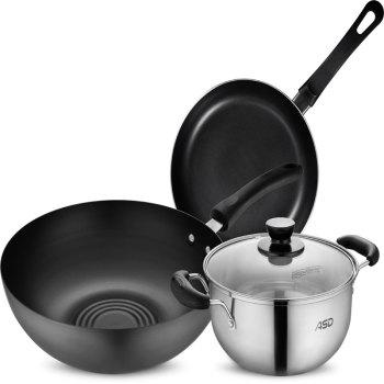 愛仕達聚味三件套PH03B2TG 炒鍋 煎鍋 湯鍋