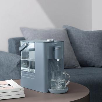 北鼎即热式饮水机S606蓝色 智能14段控温 台式智能小桶水小型茶吧机