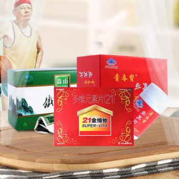 老年人套餐B】森山鐵皮楓斗+青春寶永真片+21金維他多維元素片