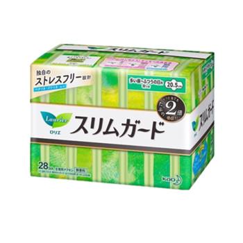 KAO花王乐而雅瞬吸超薄日用卫生巾20.5cm*28片*4包