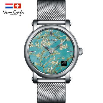 梵高瑞士女士石英手表Lady 09-M 盛开的杏树