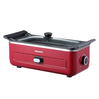 大宇DAEWOO多功能家用烧烤炉可分离式不粘烧烤盘DYSK-S302