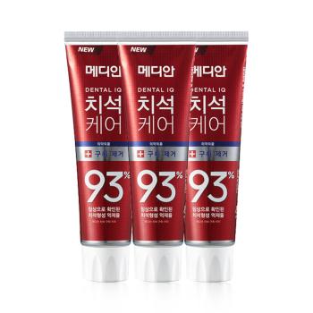 韩国MEDIAN麦迪安美迪安93%牙膏(红)120g*6