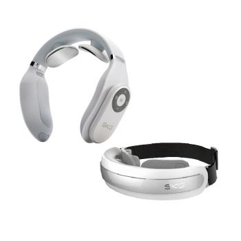 SKG低频颈椎按摩器肩颈按摩仪4098+眼部按摩仪护眼仪4301
