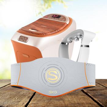 SKG颈椎按摩器G7+凯伦诗足浴按摩器+SKG按摩腰带W5