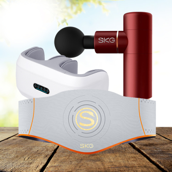 SKG筋膜枪按摩仪按摩器F3+凯伦诗膝腿按摩器+SKG按摩腰带W5