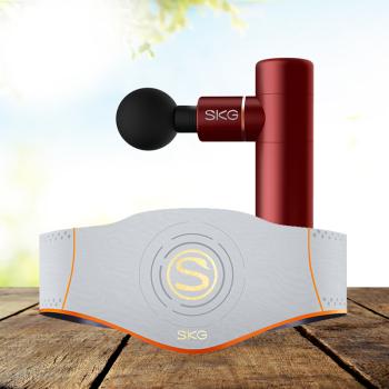 SKG筋膜枪按摩仪按摩器F3+SKG按摩腰带W5