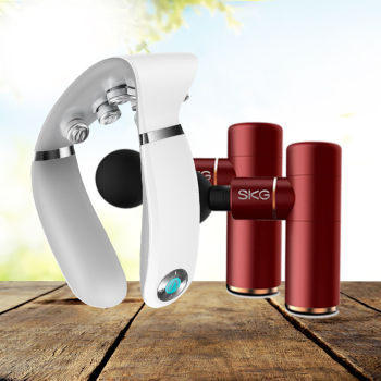 SKG筋膜枪按摩仪按摩器F3*2+ SKG 颈椎按摩器G7(白色)