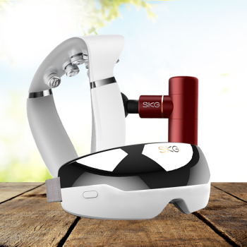SKG筋膜枪按摩仪按摩器F3 mini+SKG眼部按摩器+ SKG 颈椎按摩器G7(白色)