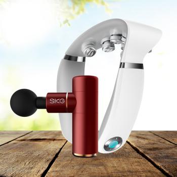 SKG筋膜枪按摩仪按摩器F3+ SKG 颈椎按摩器G7(白色)